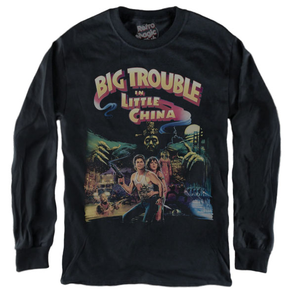 Big Trouble in Little China T Shirt TV Crime Film Movie Sci Fi Action japonais