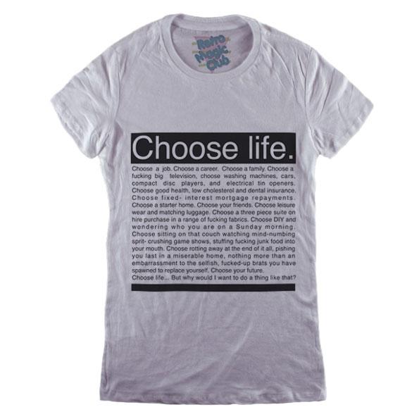 f00f61c1c1e TRAINSPOTTING – CHOOSE LIFE T-shirt – Retro Magic Store